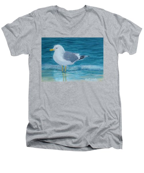 The Water's Cold Men's V-Neck T-Shirt