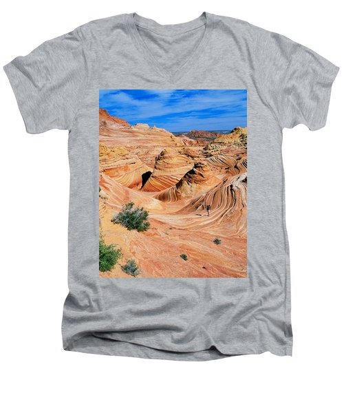 The Wave 2 Men's V-Neck T-Shirt