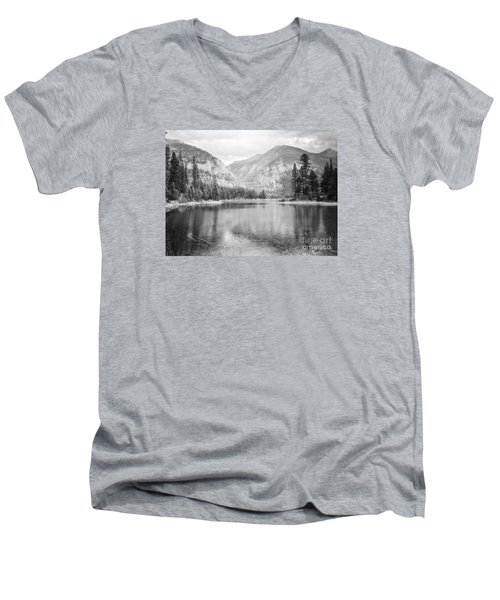 Men's V-Neck T-Shirt featuring the photograph The Way Down- Journey by Janie Johnson