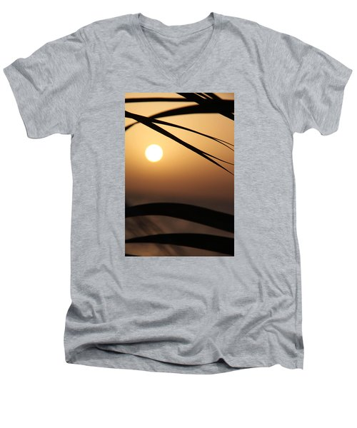 Men's V-Neck T-Shirt featuring the photograph the way I lean by Jez C Self