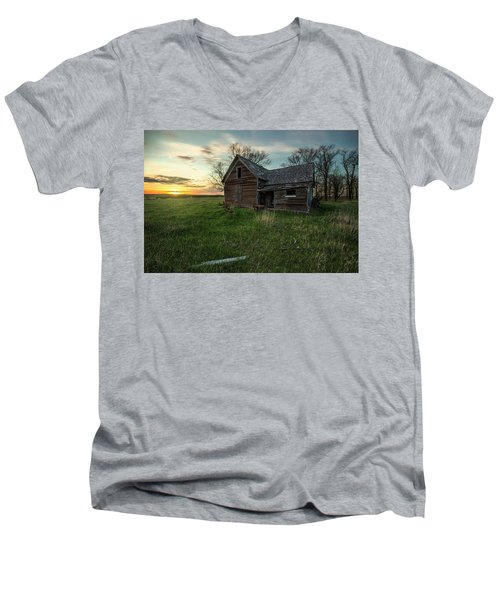 Men's V-Neck T-Shirt featuring the photograph The Way She Goes by Aaron J Groen