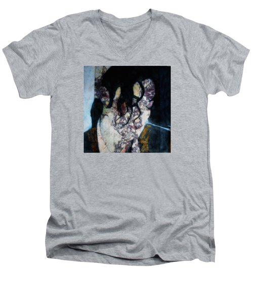 The Way You Make Me Feel Men's V-Neck T-Shirt by Paul Lovering