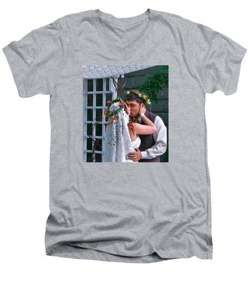 The Wedding Kiss Men's V-Neck T-Shirt