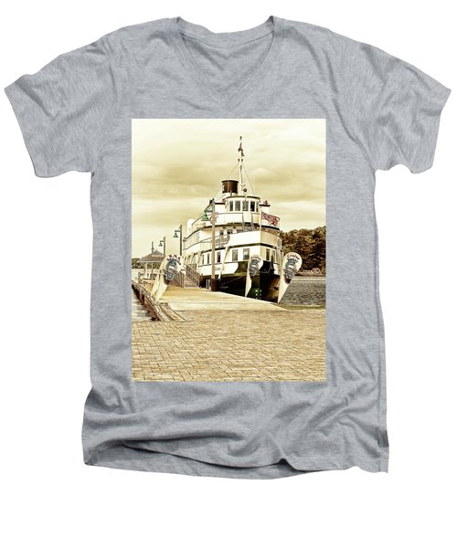 The Wenonah II Men's V-Neck T-Shirt