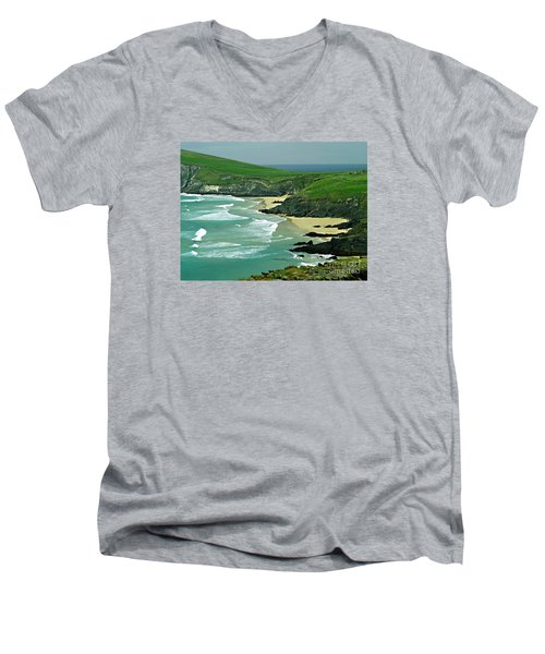 The West Coast Of Ireland Men's V-Neck T-Shirt by Patricia Griffin Brett