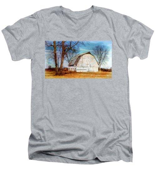 The White Barn Men's V-Neck T-Shirt