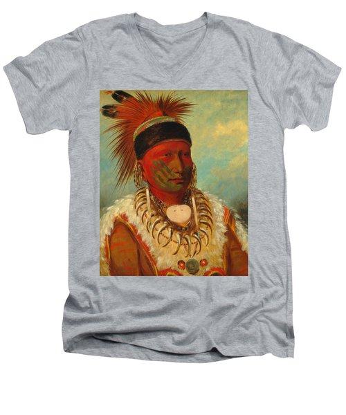 The White Cloud, Head Chief Of The Iowas Men's V-Neck T-Shirt