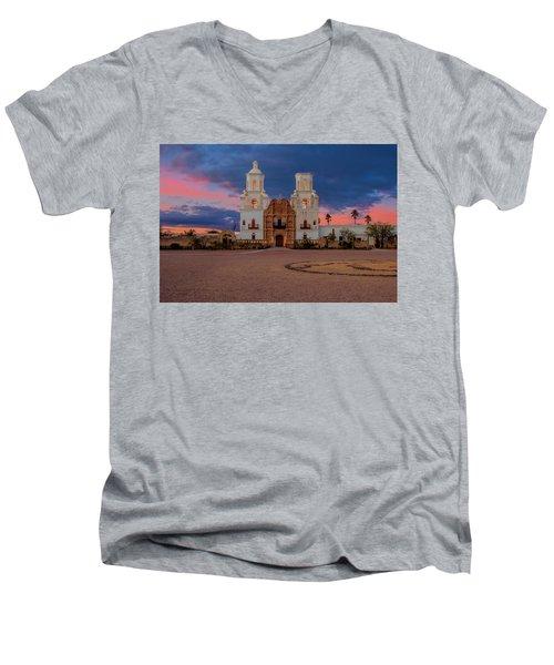 The White Dove Of The Desert Men's V-Neck T-Shirt