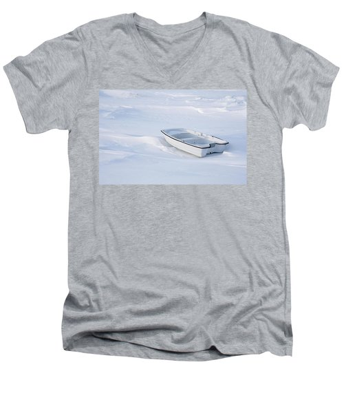 The White Fishing Boat Men's V-Neck T-Shirt by Nick Mares