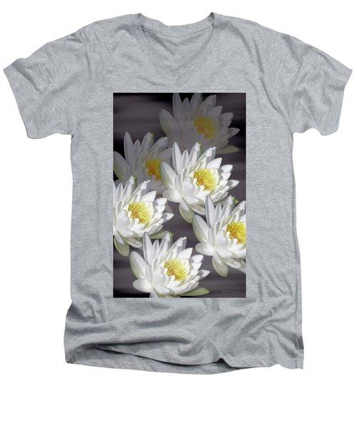 The White Garden Men's V-Neck T-Shirt by Rosalie Scanlon