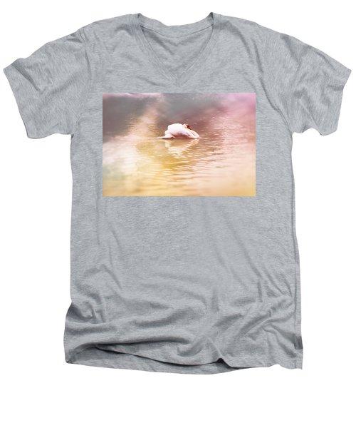 The White Pearl Men's V-Neck T-Shirt