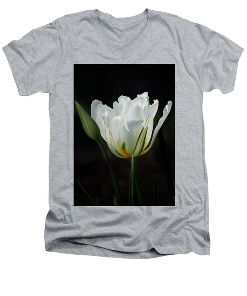 The White Tulip Men's V-Neck T-Shirt