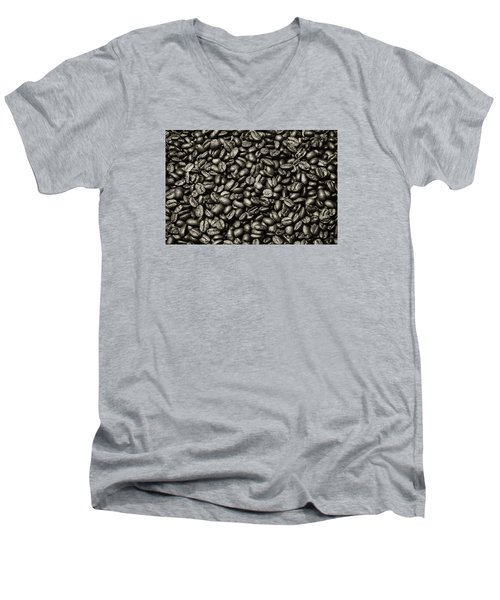 Men's V-Neck T-Shirt featuring the photograph The Whole Bean by Andy Crawford