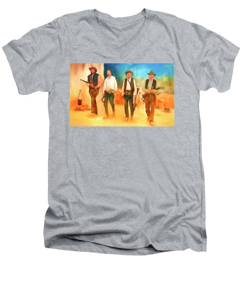 The Wild Bunch Men's V-Neck T-Shirt by Michael Cleere