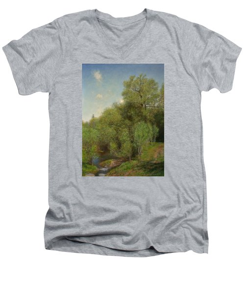 The Willow Patch Men's V-Neck T-Shirt by Wayne Daniels