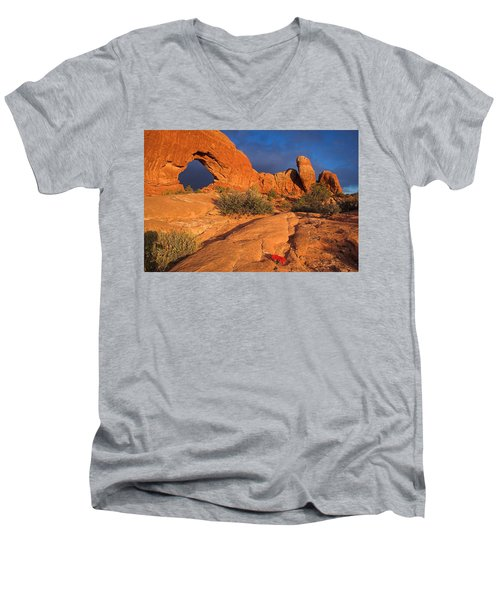 Men's V-Neck T-Shirt featuring the photograph The Window by Steve Stuller