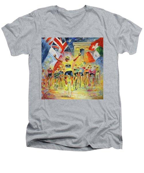 The Winner Of The Tour De France Men's V-Neck T-Shirt