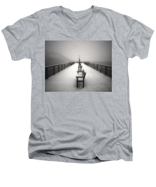 The Winter Pier Men's V-Neck T-Shirt by Tara Turner