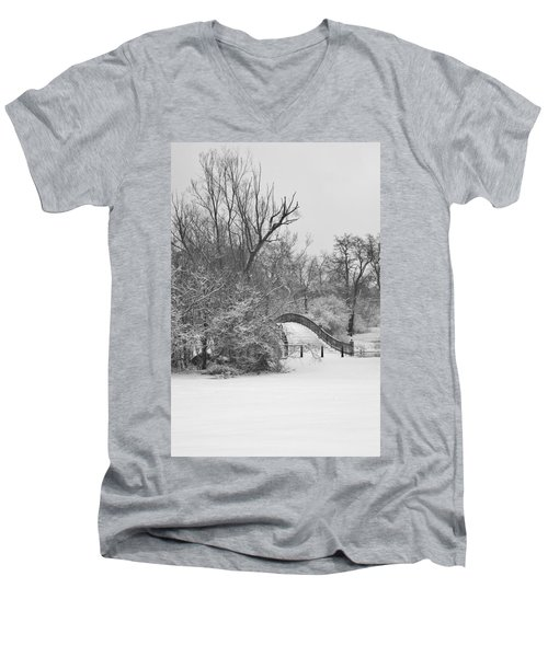 The Winter White Wedding Bridge Men's V-Neck T-Shirt