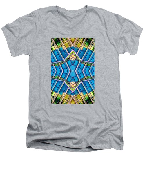 The Wit Hotel N90 V3 Men's V-Neck T-Shirt by Raymond Kunst