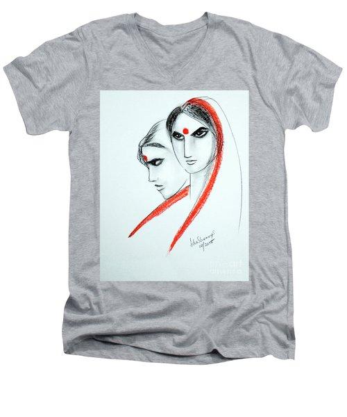 The Women Men's V-Neck T-Shirt