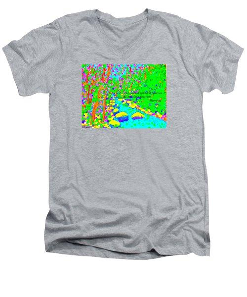 This World Is But A Canvas Men's V-Neck T-Shirt by Deborah Dendler