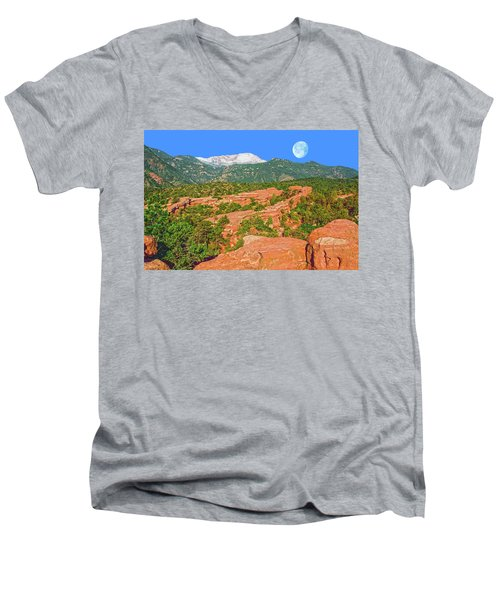 The World Is Not Comprehensible, But It Is Embraceable, Wrote The German Philosopher, Martin Buber.  Men's V-Neck T-Shirt by Bijan Pirnia