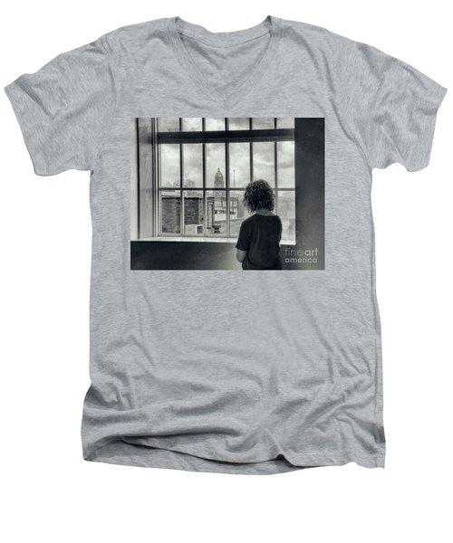 The World Outside My Window Men's V-Neck T-Shirt