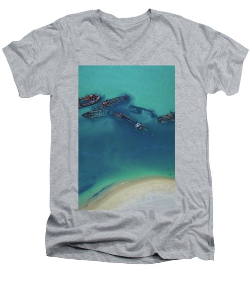 The Wrecks Men's V-Neck T-Shirt