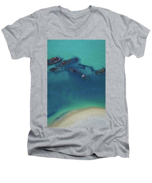 The Wrecks Men's V-Neck T-Shirt