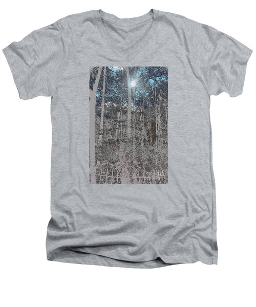 Men's V-Neck T-Shirt featuring the photograph The Yard by Jesse Ciazza