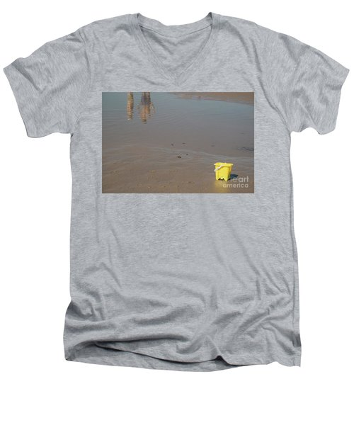 The Yellow Bucket Men's V-Neck T-Shirt