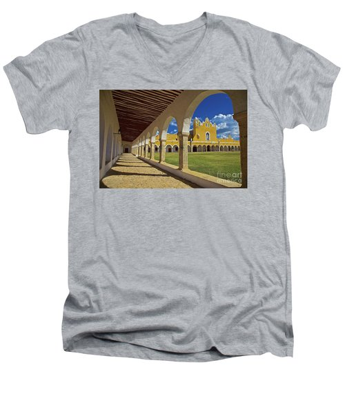 The Yellow City Of Izamal, Mexico Men's V-Neck T-Shirt