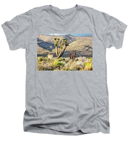 The Zebra Burro Men's V-Neck T-Shirt