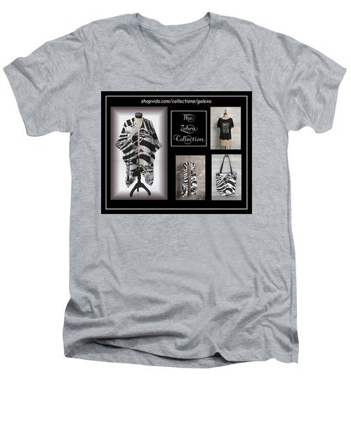 The Zebra Collection Men's V-Neck T-Shirt