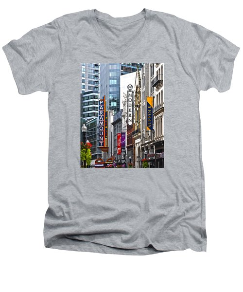 Theatre District Men's V-Neck T-Shirt