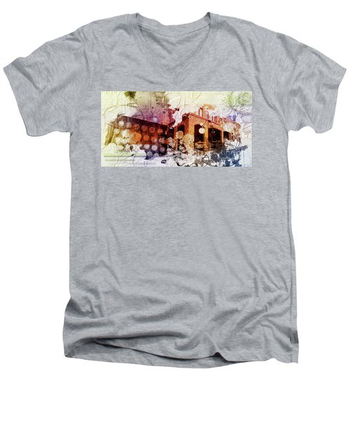 Them Olden Days Men's V-Neck T-Shirt by Deborah Nakano