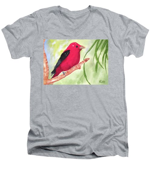 Theodore Tanager Men's V-Neck T-Shirt
