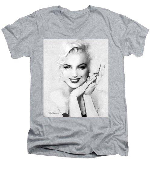 Theo's Marilyn 133 Bw Men's V-Neck T-Shirt