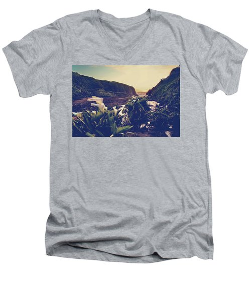 There Is Harmony Men's V-Neck T-Shirt by Laurie Search