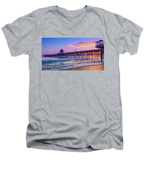 There Will Be Another One - San Clemente Pier Sunset Men's V-Neck T-Shirt