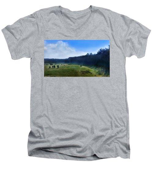 These Days Men's V-Neck T-Shirt by Bernd Hau
