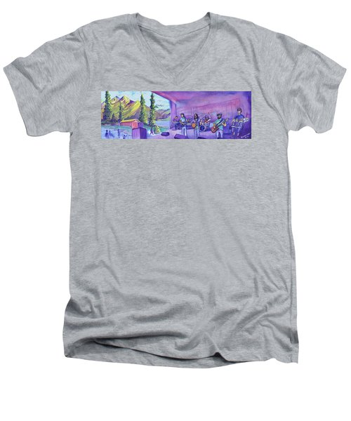 Thin Air At Dillon Amphitheater Men's V-Neck T-Shirt by David Sockrider