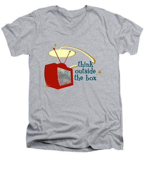 Think Outside The Box Men's V-Neck T-Shirt