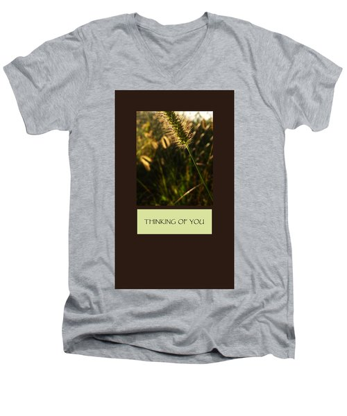 Thinking Of You Men's V-Neck T-Shirt by Mary Ellen Frazee
