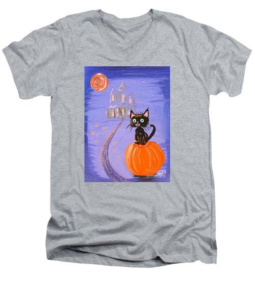 Things I Like Best At Halloween Men's V-Neck T-Shirt