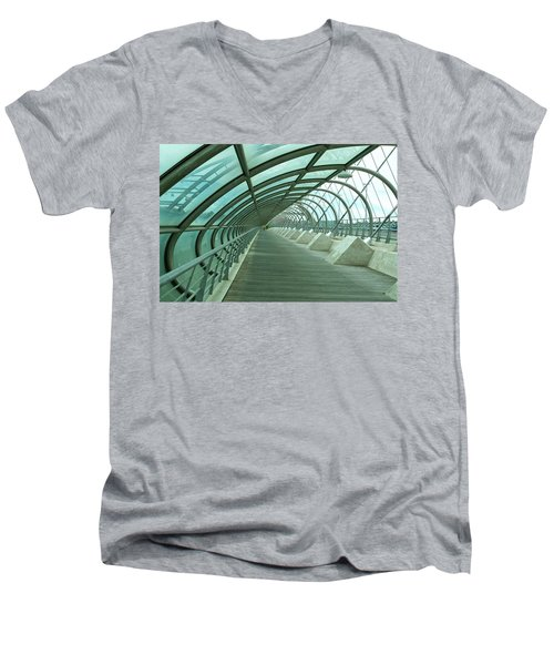 Third Millenium Bridge, Zaragoza, Spain Men's V-Neck T-Shirt by Tamara Sushko
