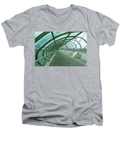 Third Millenium Bridge, Zaragoza, Spain Men's V-Neck T-Shirt