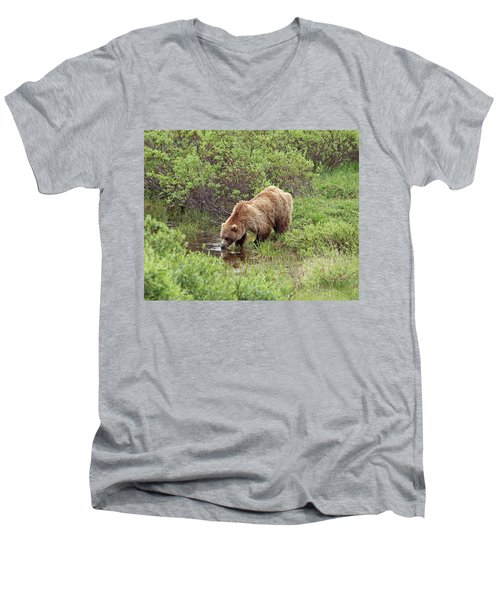 Thirsty Grizzly Men's V-Neck T-Shirt