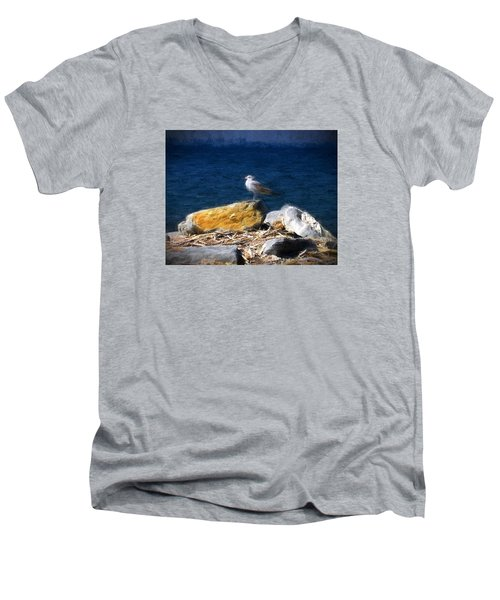 This Gull Has Flown Men's V-Neck T-Shirt